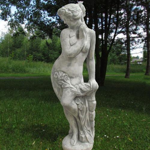 """Statue /""""Die Schüchterne/"""" Frau mit Blume Skulptur Garten"""