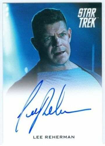 "LEE REHERMAN ""VENGEANCE SECURITY OFFICER AUTOGRAPH CARD"" STAR TREK MOVIES 2014"