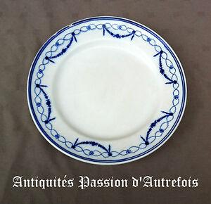 B20150666 - Rare Assiette En Porcelaine De Tournai - Anneau Fleuri - Louis 16