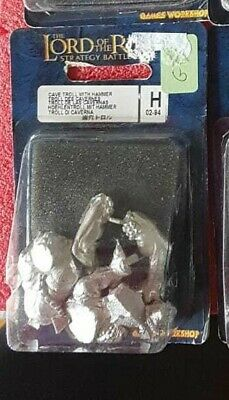 Appena Cave Troll - Metal New In Blister Oop Lotr Lord Of The Rings Hobbit Goblins Orcs