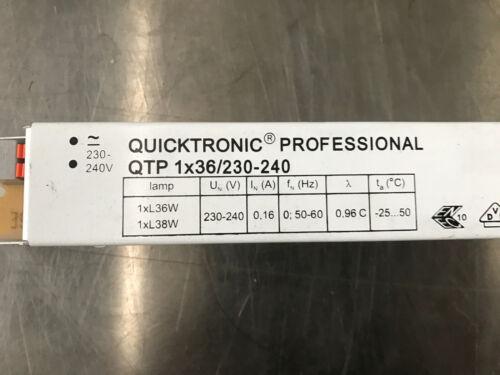 1x36//230-240 come nuovo! OSRAM//QUICKTRONIC Professional zavorrati//tipo