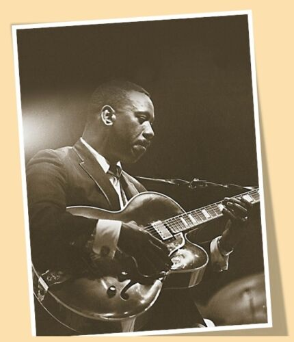 PRINT POSTER SIZE PLAYING GUITAR JAZZ MUSIC #01 WES MONTGOMERY