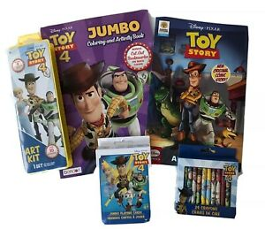 Lot-5-Disney-Toy-Story-4-Coloring-Activity-Book-Sticker-Crayons-Paint-Cards-Kids