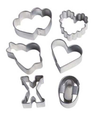 Wilton 6pc st-valentin mini glaçage fondant emporte-pièces mini heart shapes neuf