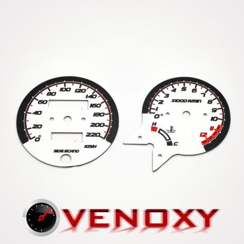 Honda CB 500 KM//H Aftermarket Instrument Cluster White Gauge Faces