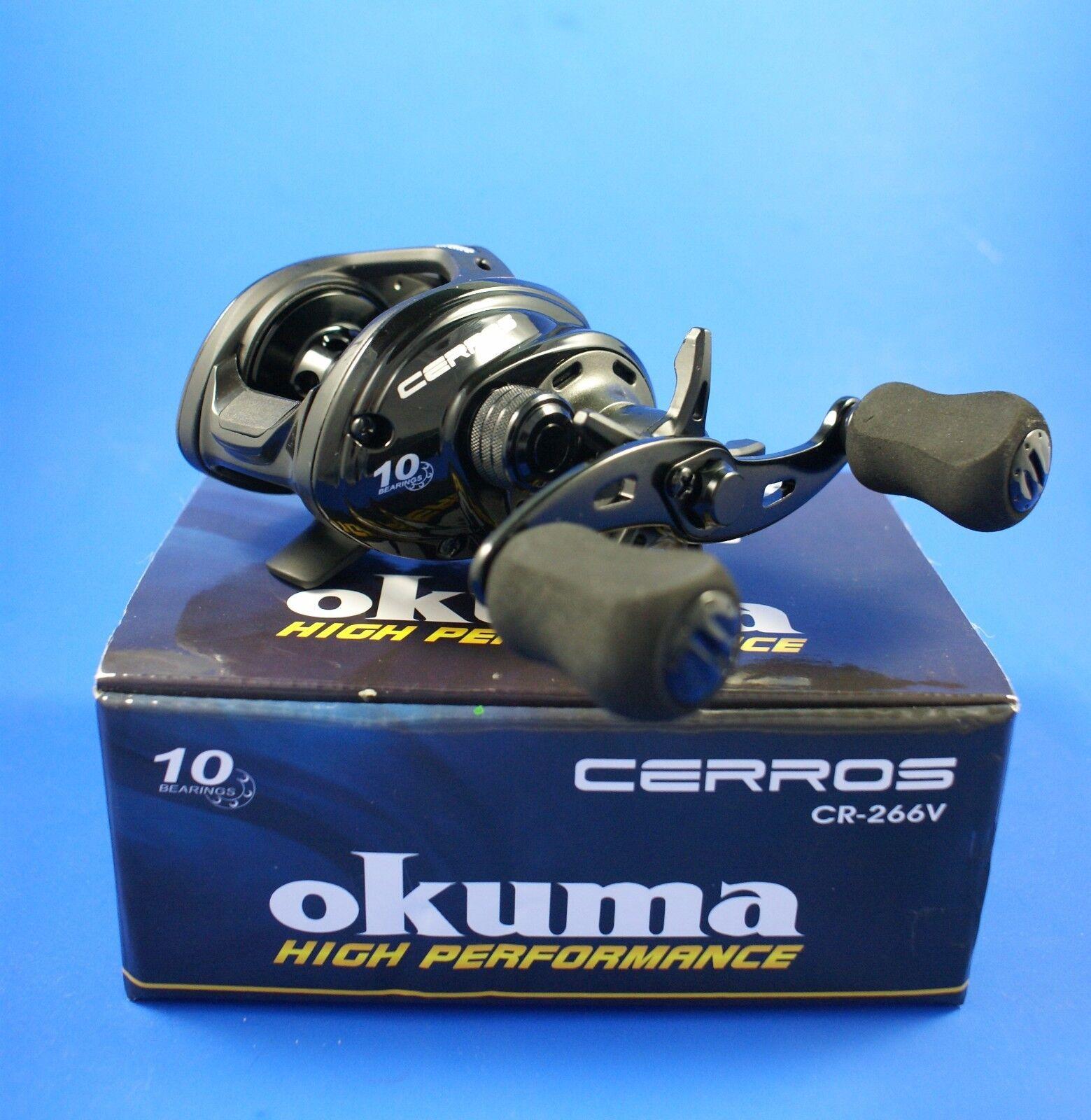 Okuma Cerros CR-266V 9+1BB 6.6  1 Cocherete de pesca baitcasting RH 49242