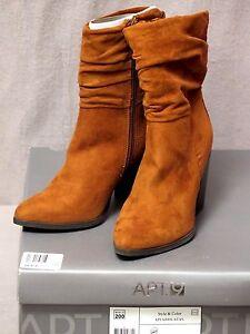 Apt.9 Fabiola Shaft Damens's Mid Shaft Fabiola Fashion Stiefel Tan Größe 5 NEW in Box fd9281