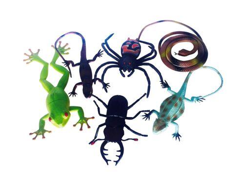 6PC insectos realista y reptiles Figuras Grandes Juguete Niños Escuela Aprendizaje De La Naturaleza