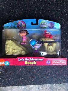 Dora the Explorer Nick Jr Fisher Price Let/'s Go Adventure Beach 5 Piece Pack
