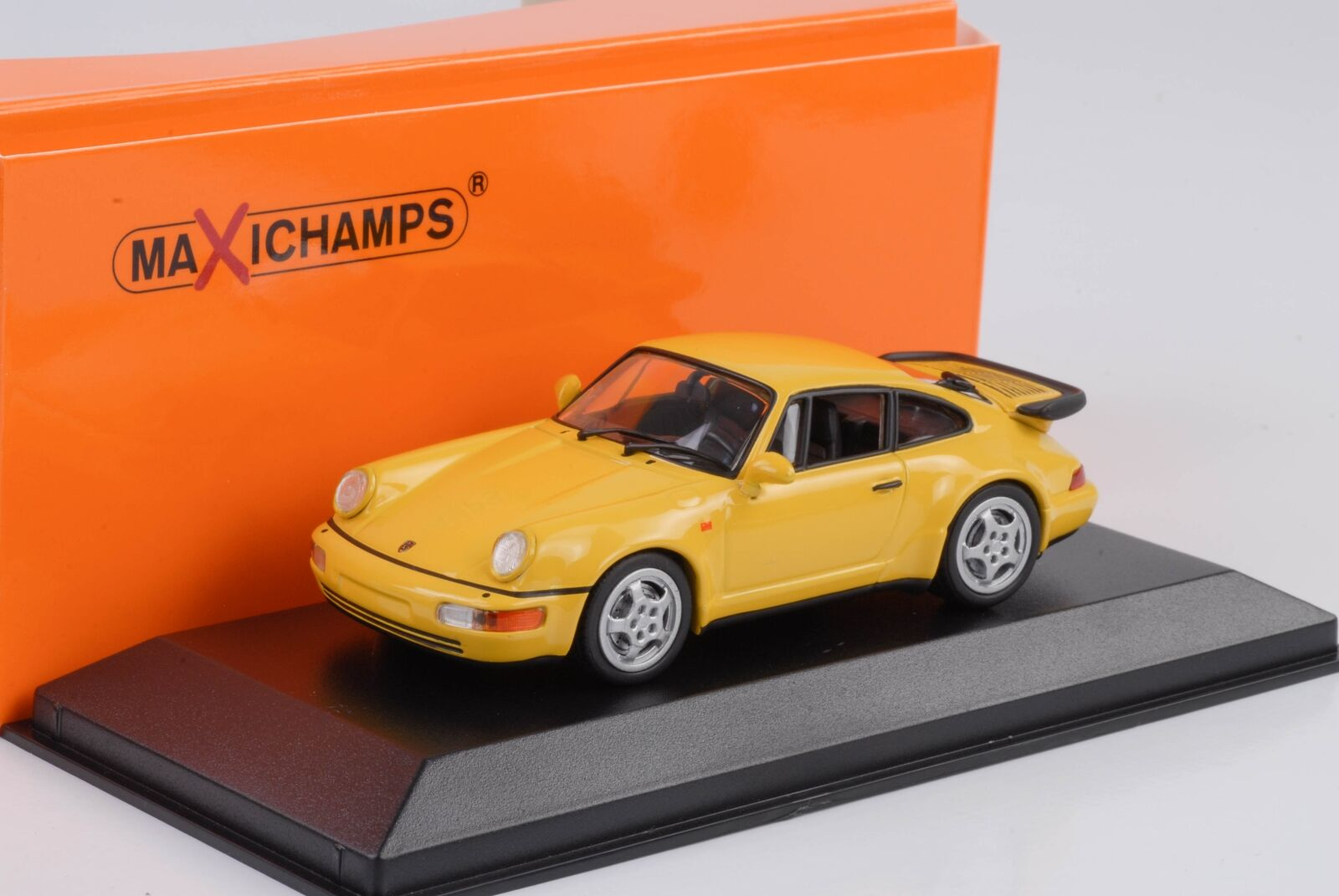 1990 Porsche 911 964 Turbo Speed Yellow 1 43 Maxichamps Minichamps