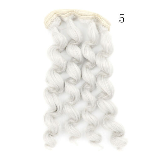 15cm x 100cmnatural color curly doll wigs hair DIY for 1//3 1//4 1//6 PLF
