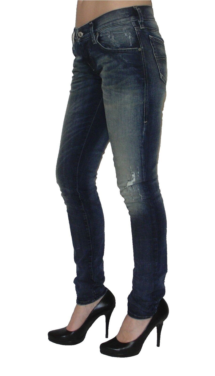 Diesel Damen Stretch Jeans GRUPEE 0838T Superslim Skinny blau  used look  NEU