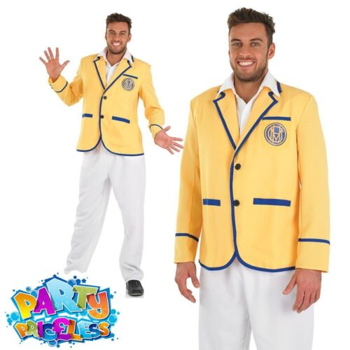 Mens Hi De Hi Yellow Coat Fancy Dress Costume 1980s Butlins Outfit