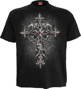 SPIRAL DIRECT CUSTODIAN Corset Lace Layered Ladies//Gargoyle//Cross//Rock//Goth//Top
