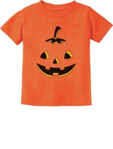 Jack O/' Lantern Cute Smiling Pumpkin Face Halloween Infant Kids T-Shirt Funny