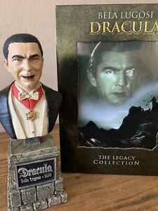 BELA-LUGOSI-Sideshow-Universal-Monsters-Legacy-Dracula-Mini-Bust-amp-Movie-DVD-039-s