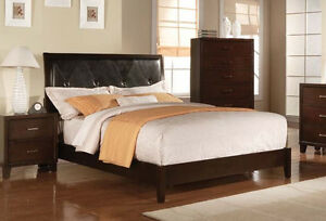 Details about ACME MASTER BEDROOM FURNITURE SET 4PCS KING QUEEN TWIN SIZES  BED SET CHERRY WOOD