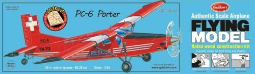 GUILLOWS-1-24-26-1-16-034-Wingspan-PC6-Porter-Laser-Cut-Kit-GUI304