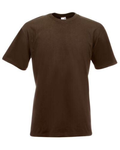 Fruit of the Loom SUPER PREMIUM T Shirt Heavy Cotton Blank Tee Shirt S-XXXL