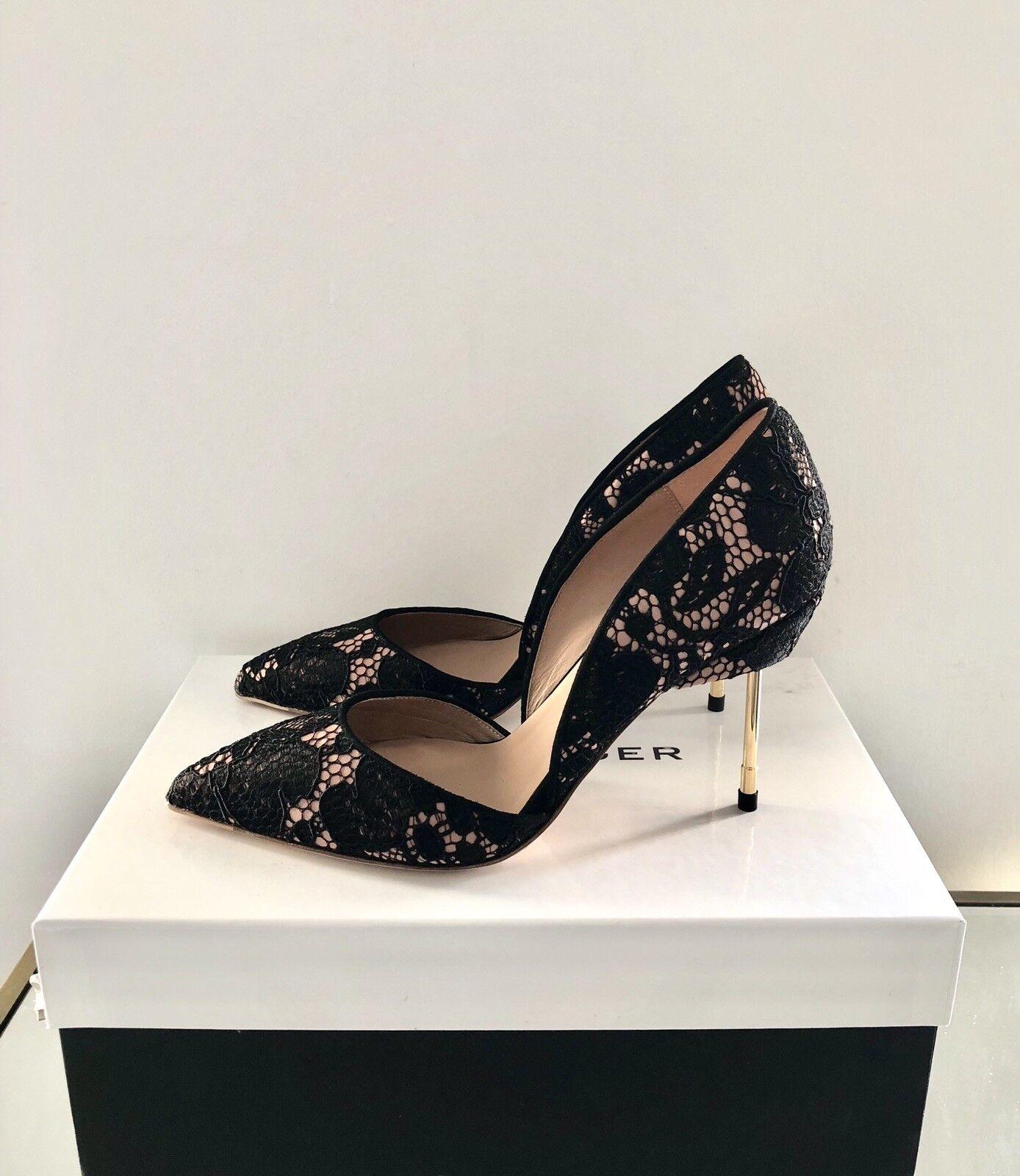 Negro Tacón Alto Alto Alto Tribunal Zapatos Talla 7 40 Kurt Geiger London Beaumont Bond  Nuevo  entrega rápida