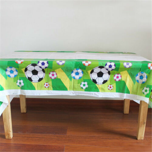 Disposable Plastic TableCloth Football Table Cover For Kids Birthday FG