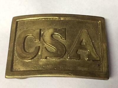 "SQUARE BELT BUCKLE CIVIL WAR REPRODUCTION NEW CONFEDERATE CS 2-3//4/"" C.S.A"