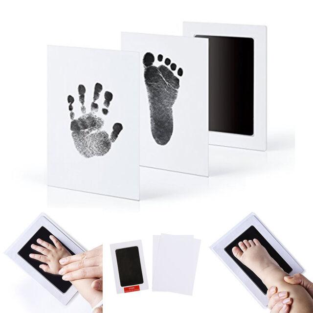 Newborn Baby Handprint Footprint Photo Frame Kit Non-toxic Clean ...