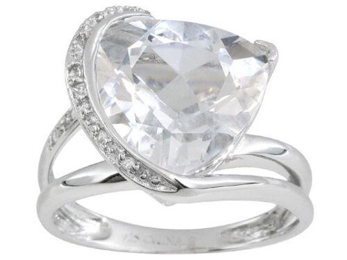 GIFT SZ 11 PLATINUM /& SS PRINCESS LCS DIAMOND ENGAGEMENT WEDDING RING SET