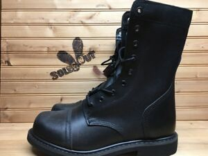 New-Rothco-Military-Leather-Combat-Boots-sz-8-Black-Steel-Shank-5075-SC