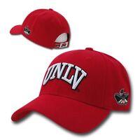 Solid Red Unlv Runnin Rebels Nevada Las Vegas Ncaa Adjustable Baseball Cap Hat