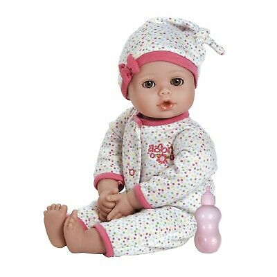 """Adora Playtime Baby Dot Vinyl 13"""" Girl Weighted Washable Play Doll Gift Set W"""