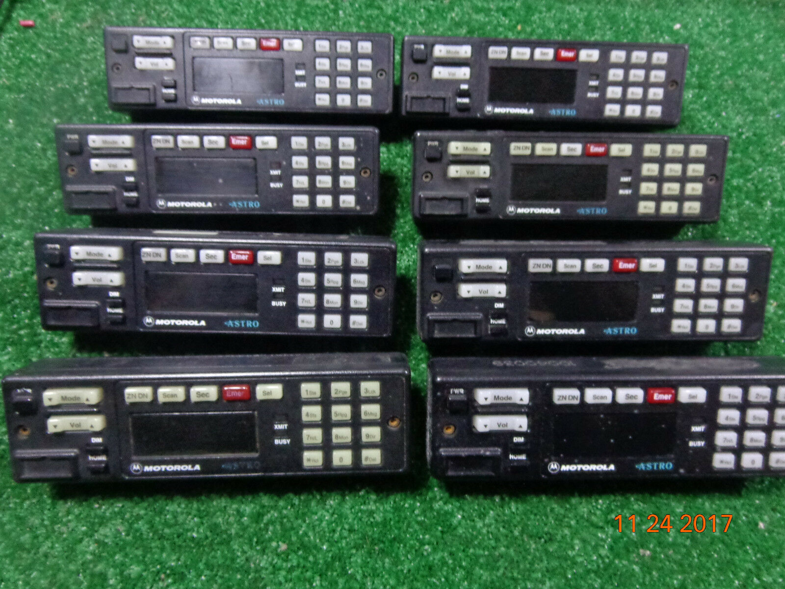 Motorola Spectra ASTRO VHF UHF Remote Mount Radio Control Head HLN6432D-A LOT 8. Available Now for 199.95