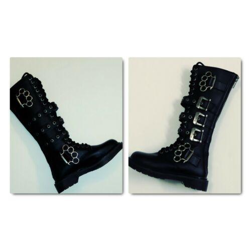 Demonia BOLT-450 unisex Black Leather  20 Eyelet K
