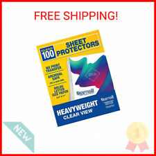 Samsill Heavyweight Clear Sheet Protectors Box Of 100 85 X 11 In Top Load