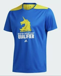 NEW-Mens-Boston-Marathon-Qualifier-Running-shirt-ADIDAS-Climalite-Size-S-FQ3802