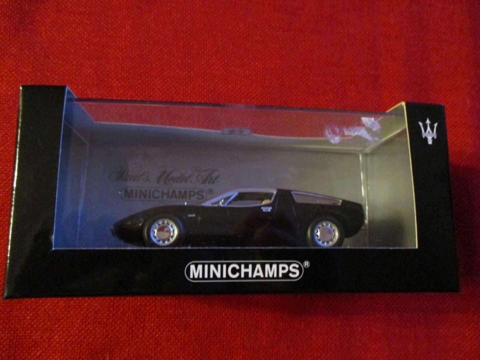 MINICHAMPS® 400 123400 1 43 Maserati Bora 1972 schwarz NEU OVP  | Vogue