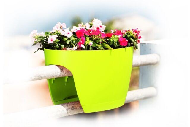 Xl Greenbo Pots A Fleurs Pour Balcon Decoration Jarninieres Vert Ebay