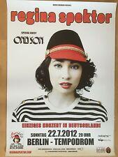 REGINA SPEKTOR 2012 BERLIN - orig.Concert Poster - Konzert Plakat  NEU