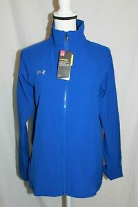 Under-Armour-UA-Women-039-s-Squad-Storm-Woven-Cobalt-Jacket-Full-Zip-MSRP-60-NEW