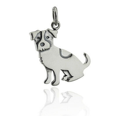 Jack Russell Terrier dog sterling silver charm .925 x 1 Dogs Terriers