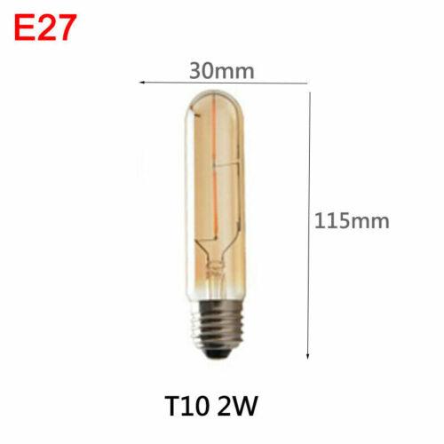 Vintage Filament LED Edison Bulb E27 ES Decorative Industrial Light T45 A60 G80