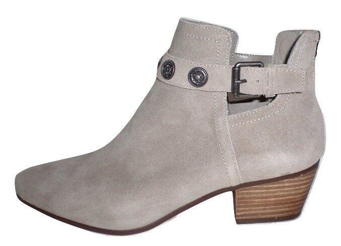 Nine West Lorao ankle boot western bootie dark taupe suede Leder 9 Md NEU