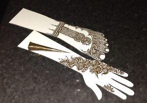 acrylic practice henna hand and feet template ebay