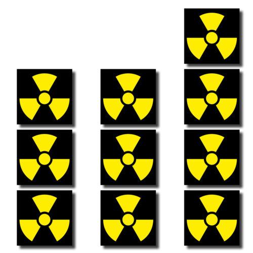 20 Aufkleber 3cm Radioaktiv Strahlung Symbol Zeichen Mini Sticker RC Modellbau