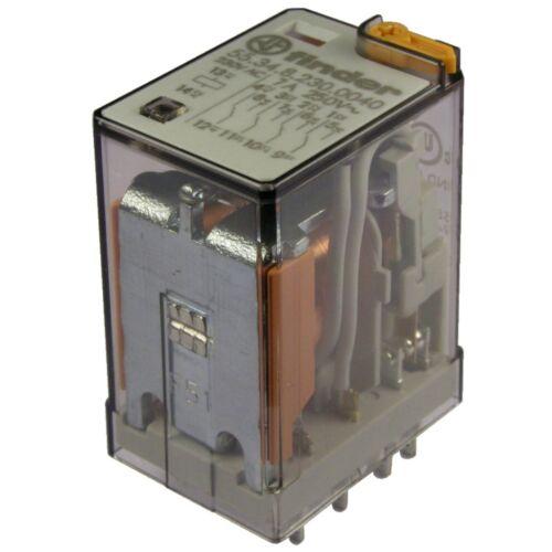 Finder 55.34.8.230.0040 Relais 230V AC 4xUM 7A 250V AC Relay Steck Print 069575