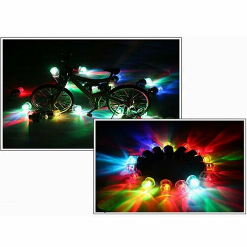 Neon LED Tire Valve Cap Lamp Spoke light Flash For Bike Bicycle Car Motor Wheel