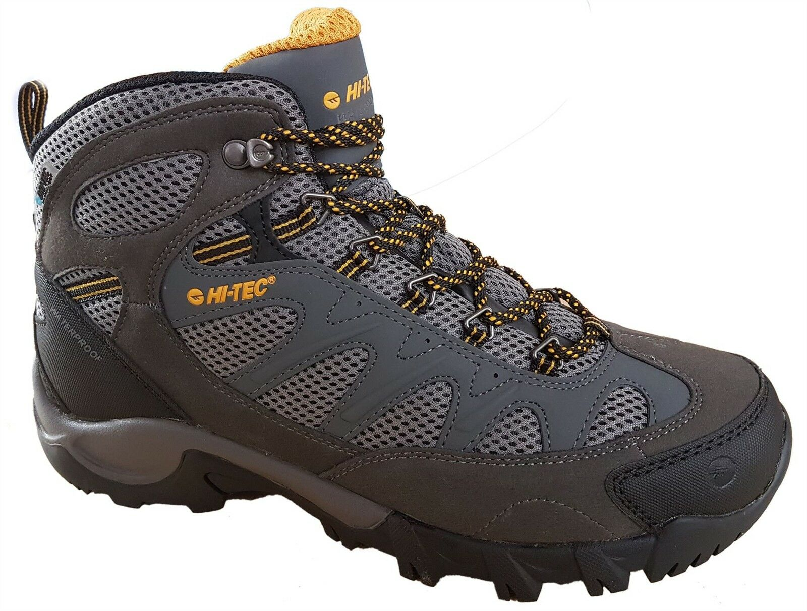 Hi-Tec Trailstone  Waterproof Mens Walking Hiking Lace Grey Boots  online cheap