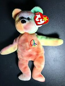 Rare Ty Beanie Baby Peace Bear Original Collectible with Tag Errors ... 61a7d6de04c3