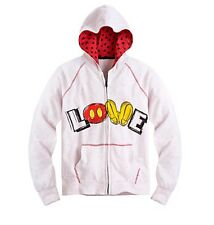 """Disney Store Authentic Mickey Mouse Womens """"LOVE"""" Hoodie Jacket Coat Size Small"""
