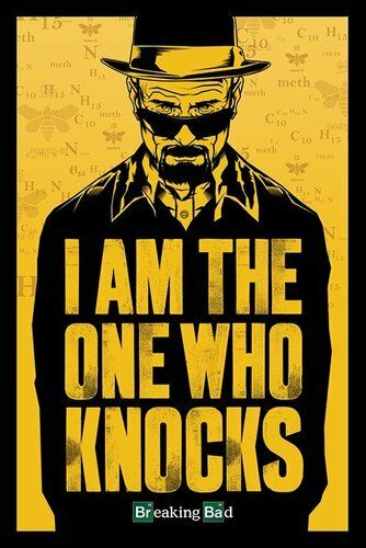 BREAKING BAD POSTER 24x36-50969 I AM THE ONE WHO KNOCKS